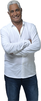 Man in a white shirt and arms crossed